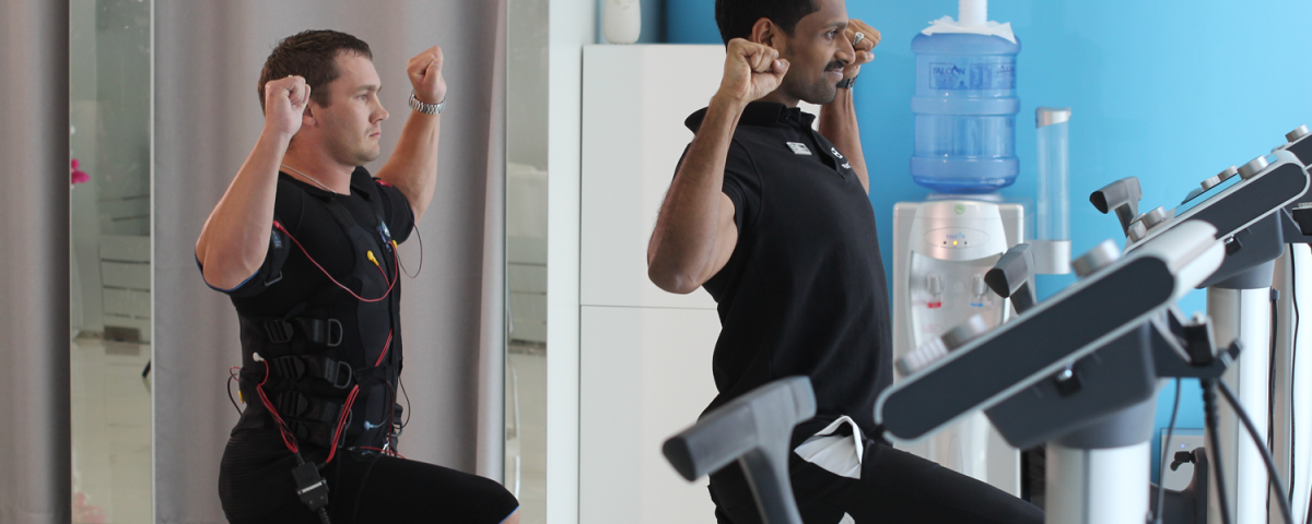 Body Time EMS training for body toning in Dubai