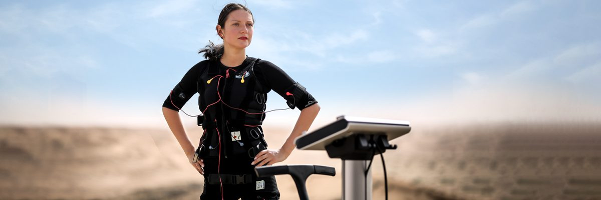 Body Time training at the EMS device in the UAE